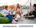 spending great time with... | Shutterstock . vector #1334565443
