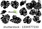 vector set with silhouette of... | Shutterstock .eps vector #1334577233