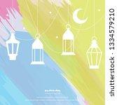 ramadan kareem greeting... | Shutterstock .eps vector #1334579210