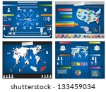 collection of four infographics ... | Shutterstock . vector #133459034