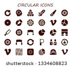 circular icon set. 30 filled...