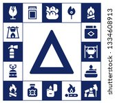 flammable icon set. 17 filled... | Shutterstock .eps vector #1334608913