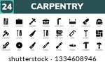 carpentry icon set. 24 filled... | Shutterstock .eps vector #1334608946