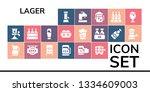 lager icon set. 19 filled lager ...   Shutterstock .eps vector #1334609003