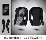 visual drawing set of elastic... | Shutterstock .eps vector #1334612549