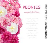 peony flowers background... | Shutterstock . vector #133461653