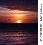 Sunset Water Horizon Red Sky - Fine Art prints