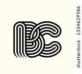bc monogram.typographic logo...   Shutterstock .eps vector #1334629586