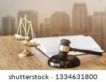 justice or real estate auction... | Shutterstock . vector #1334631800