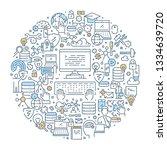 vector line web concept for... | Shutterstock .eps vector #1334639720