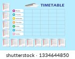 vector calendar for year 2019... | Shutterstock .eps vector #1334644850