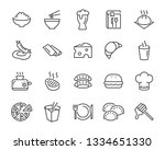 set of food icons  such as... | Shutterstock .eps vector #1334651330