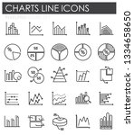 graph line icons set on white... | Shutterstock .eps vector #1334658650