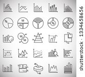 graph line icons set on white... | Shutterstock .eps vector #1334658656