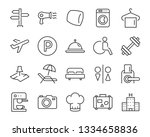 set of hotel icons  such as ... | Shutterstock .eps vector #1334658836