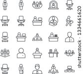 thin line icon set   reception... | Shutterstock .eps vector #1334661620