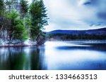 the lower barkhamsted reservoir ...   Shutterstock . vector #1334663513