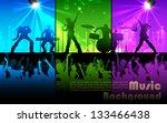 illustration of people cheering ... | Shutterstock .eps vector #133466438