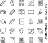 thin line icon set   contract... | Shutterstock .eps vector #1334667149