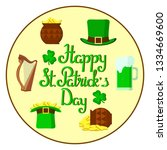 st. patrick's day  icon set ... | Shutterstock .eps vector #1334669600