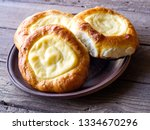 open buns with cottage cheese ... | Shutterstock . vector #1334670296