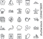 thin line icon set   storm... | Shutterstock .eps vector #1334673839