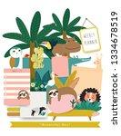 cute cartoon vector design... | Shutterstock .eps vector #1334678519