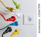 sockets need to plugging in ... | Shutterstock . vector #133467950