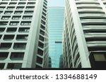exterior of glass residential... | Shutterstock . vector #1334688149
