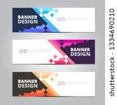 vector abstract  design banner...   Shutterstock .eps vector #1334690210