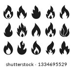 fire flame icons. simple... | Shutterstock .eps vector #1334695529