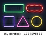 neon light frame. retro banner... | Shutterstock .eps vector #1334695586