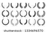 silhouette laurel wreath.... | Shutterstock .eps vector #1334696570