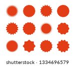 starburst price stickers. star... | Shutterstock .eps vector #1334696579