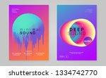 music poster set. geometric... | Shutterstock .eps vector #1334742770