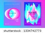 summer music set. fluid... | Shutterstock .eps vector #1334742773