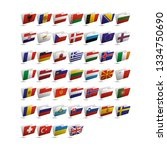 set of vector folder icons with ... | Shutterstock .eps vector #1334750690