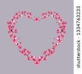 vector illustration of a flower ...   Shutterstock .eps vector #1334763233
