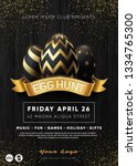 easter egg hunt party flyer... | Shutterstock .eps vector #1334765300