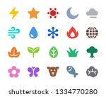 nature icon set vector and... | Shutterstock .eps vector #1334770280