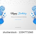 corporate birthday card | Shutterstock .eps vector #1334771060