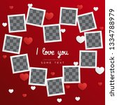 postcard happy valentines day... | Shutterstock .eps vector #1334788979