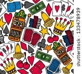 gambling seamless pattern  ... | Shutterstock .eps vector #133478939