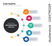 modern business infographic... | Shutterstock .eps vector #1334790209