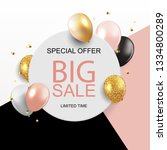 sale banner with floating... | Shutterstock . vector #1334800289