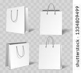 realistic bag mockup. white... | Shutterstock .eps vector #1334809499