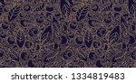 pattern concept berries acai... | Shutterstock .eps vector #1334819483