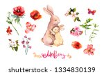 floral set for mother's day ... | Shutterstock . vector #1334830139