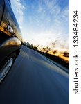 car on the road with motion... | Shutterstock . vector #133484234