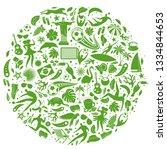 vector illustration green... | Shutterstock .eps vector #1334844653